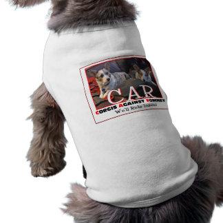 Corgis Against Romney Sleeveless Dog Shirt