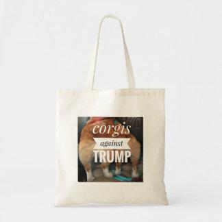 Corgis against Trump tote