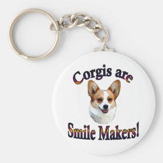 Corgis are smile Makers Key Ring