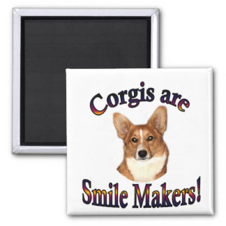 Corgis are smile Makers - Pippin Magnet