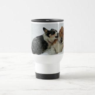 Corgis at Play Travel Mug