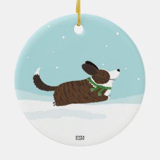 Corgis in the Snow Christmas Ornament