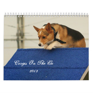 Corgis on the go 2013 calendars