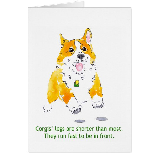 Corgis Run Fast Card