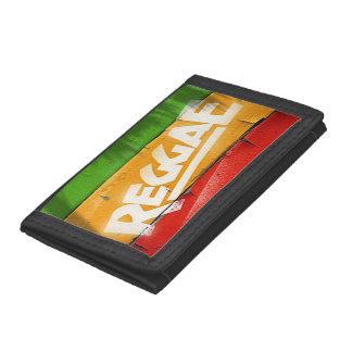 Cori Reith Rasta reggae graffiti Trifold Wallets