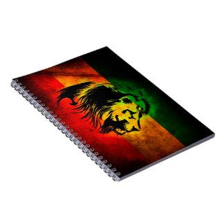 Cori Reith Rasta reggae lion Notebook
