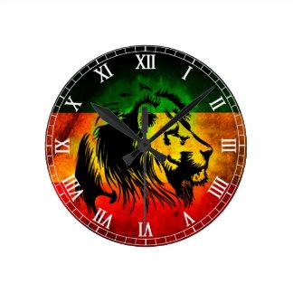 Cori Reith Rasta reggae lion Round Clock