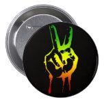 Cori Reith Rasta reggae peace Button