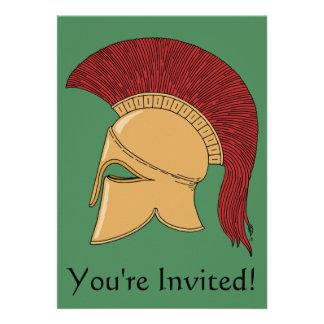 Corinthian Helmet Invitation
