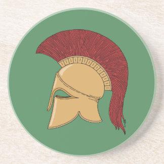 Corinthian Helmet Sandstone Coaster