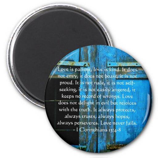 Corinthians 13:4-8 BIBLE VERSE ABOUT LOVE Refrigerator Magnets