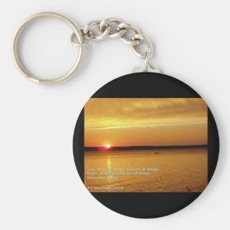 Corinthians 13:7-8  Sunset Keychains