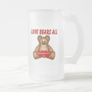Corinthians Love Bears All Frosted Glass Beer Mug