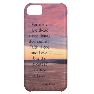 Corinthians Verse Love Endures Ocean Sunset Cover For iPhone 5C