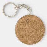 Cork Basic Round Button Key Ring