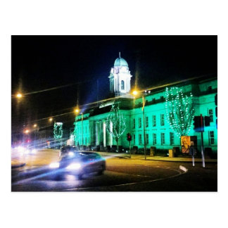 Cork City Hall, St. Patricks week, Ireland Postcard