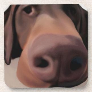 Cork Coaster Dog Big Nose