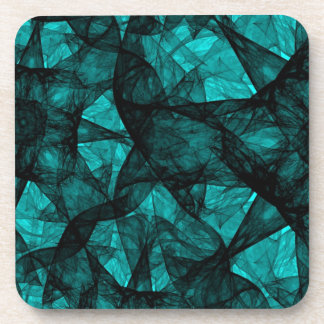 Cork Coaster fractal art black and green