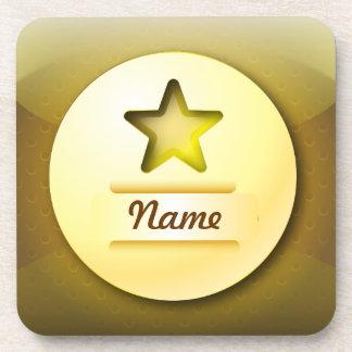 Cork Coaster icon gold star