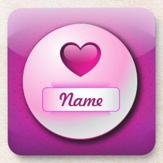 Cork Coaster icon heart love