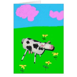 Cork Cow Moo Moo Greeting Cards