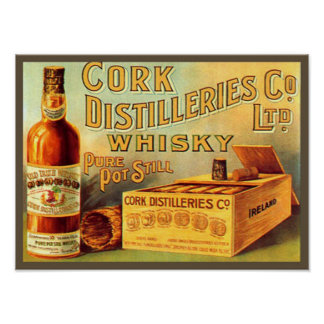 Cork Distilleries Whisky Vintage Ad Poster
