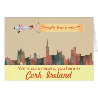 Cork Ireland Skyline-Navaho Greeting Card