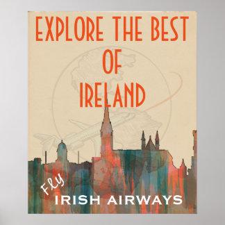 CORK, IRELAND SKYLINE - Navaho - iPad Sleeve Poster