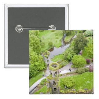 Cork, Ireland. The infamous Blarney Castle 15 Cm Square Badge