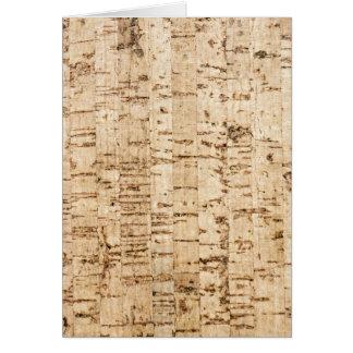 Cork oak pattern card