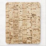 Cork-oak texture mouse pads