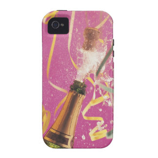 Cork popping on champagne during celebration iPhone 4 covers
