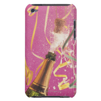 Cork popping on champagne during celebration iPod Case-Mate case