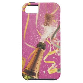 Cork popping on champagne during celebration iPhone 5 cover