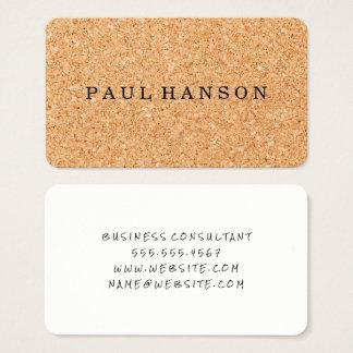 Cork Print Business Card