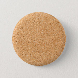 Cork texture 6 cm round badge