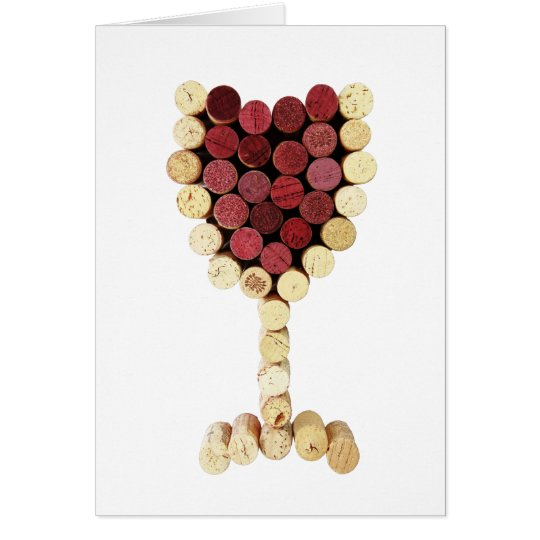 Cork Wine Glass Card