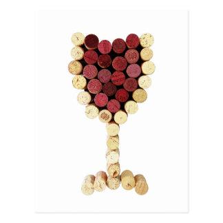 Cork Wine Glass Postcard