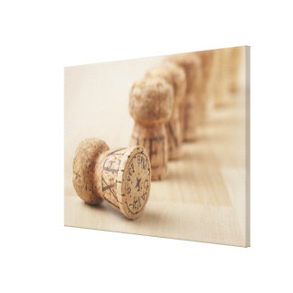 Corks, close-up canvas print