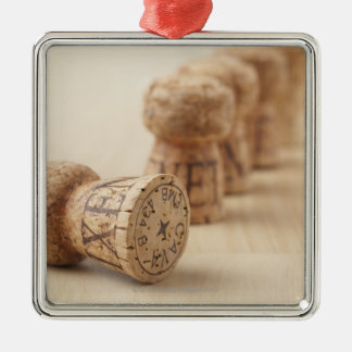 Corks, close-up christmas ornament