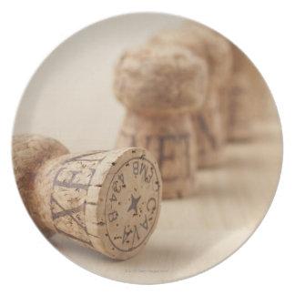 Corks, close-up plate