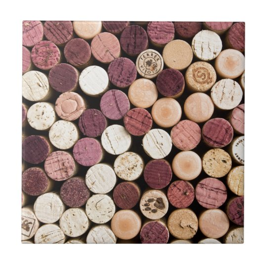 Corks on End Small Square Tile