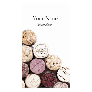 Corks texture winemaking sommelier pack of standard business cards