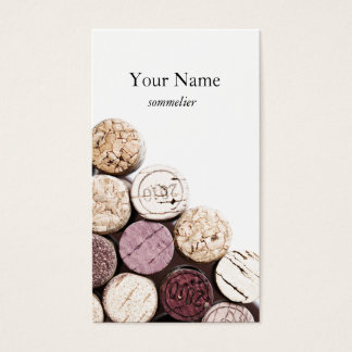 Corks texture winemaking sommelier business card