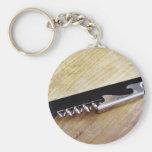 Corkscrew Basic Round Button Key Ring