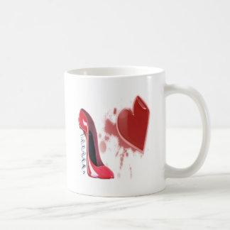 Corkscrew Red stiletto shoe with bleeding heart Coffee Mug