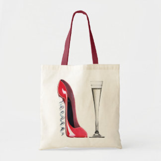 Corkscrew Stiletto Shoe and Champagne Flute Glass