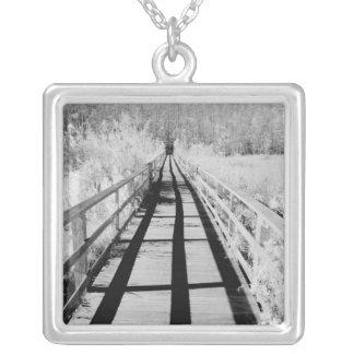 Corkscrew Swamp Sanctuary boardwalk, Florida, Silver Plated Necklace