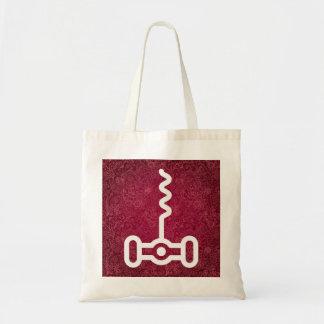 Corkscrews Minimal Budget Tote Bag