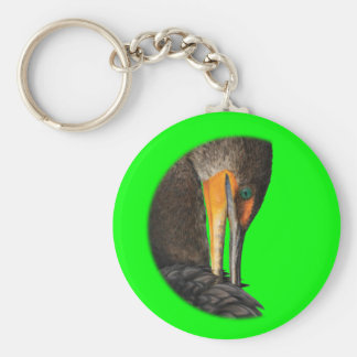 Cormorant Basic Round Button Key Ring